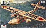 Shavrov Sh2 Russian WWII Seaplane -- Plastic Model Airplane Kit -- 1/72 Scale -- #7216