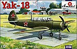 Yak18 M12 Soviet Aircraft -- Plastic Model Airplane Kit -- 1/72 Scale -- #72198