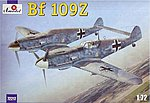 Messerschmitt Bf109Z Fighter -- Plastic Model Airplane Kit -- 1/72 Scale -- #72217