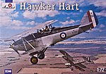 Hawker Hart British BiPlane Fighter -- Plastic Model Airplane Kit -- 1/72 Scale -- #72240