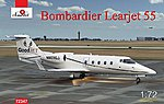 Bombardier Learjet 55 Business Jet (New Tool) -- Plastic Model Airplane Kit -- 1/72 Scale -- #72347