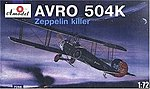 Avro 504K Zeppelin Killer Single-Seater Fighter -- Plastic Model Airplane Kit -- 1/72 -- #7268