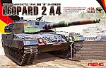 Leopard 2A4 German MBT -- Plastic Model Military Vehicle Kit -- 1/35 Scale -- #ts016