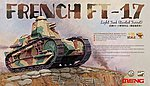 French FT17 Light Tank (Riveted Turret) -- Plastic Model Military Vehicle Kit -- 1/35 Scale -- #ts11