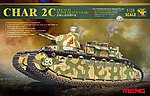 Char 2C French Super Heavy Tank -- Plastic Model Tank Kit -- 1/35 Scale -- #ts9