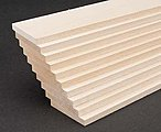 Basswood 2'' Sheets (1/4 x 2 x 24'') (10) -- Hobby and Craft Building Supplies -- #4115
