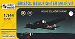 1/144 Bristol Beaufighter Mk IF/VIF No.68 Squadron RAF Fighter (w/Resin)