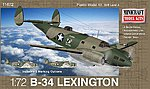 B-34 Lexington USAAF w/2 Marking Options -- Plastic Model Airplane Kit -- 1/72 Scale -- #11672