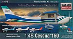 Cessna 150 -- Plastic Model Airplane Kit -- 1/48 Scale -- #11675
