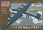 PB-4Y USN/RAF -- Plastic Model Airplane Kit -- 1/144 Scale -- #14687