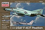 F-4E Phantom ADC/RAF -- Plastic Model Airplane Kit -- 1/144 Scale -- #14692