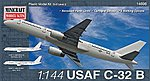 C-32B USAF C-32A RNZAF (B757) -- Plastic Model Airplane Kit -- 1/144 Scale -- #14696