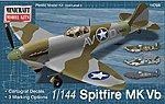 Spitfire Vb USAAF/RAF w/2 Marking Options -- Plastic Model Airplane Kit -- 1/144 Scale -- #14704