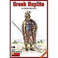 Greek Hoplite IV Century B.C. -- Plastic Model Military Figure -- 1/16 Scale -- #16013