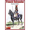French Cuirassier Napoleonic Wars -- Plastic Model Military Figure -- 1/16 Scale -- #16015