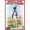 Imperial Guard French Grenadier Napoleonic Wars -- Plastic Model Military Figure -- 1/16 -- #16017