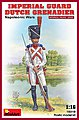 Imperial Guard Dutch Grenadier Napoleonic Wars -- Plastic Model Military Figure -- 1/16 -- #16018