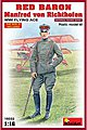 Red Baron Manfred von Richthofen WWI Flying Ace -- Plastic Model Military Figure -- 1/16 -- #16032