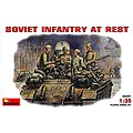 WWII Soviet Infantry at Rest (4) -- Plastic Model Military Figure -- 1/35 Scale -- #35001