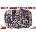 WWII Soviet Infantry on the March (4) -- Plastic Model Military Figure -- 1/35 Scale -- #35002