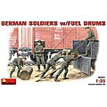 German Soldiers with Fuel Drums -- Plastic Model Military Figure -- 1/35 Scale -- #35041