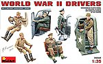 WWII Drivers (6 figures) -- Plastic Model Military Figure -- 1/35 Scale -- #35042