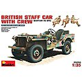 British Bantam 40BRC Staff Car w/3 Crew -- Plastic Model Military Staff Car -- 1/35 Scale -- #35050
