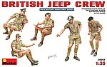 British Jeep Crew -- Plastic Model Military Figure -- 1/35 Scale -- #35051