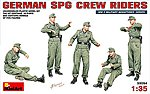 German SPG Crew Riders (5) -- Plastic Model Military Figure -- 1/35 Scale -- #35054