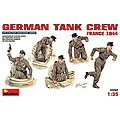 German Tank Crew France 1944 -- Plastic Model Military Figure -- 1/35 Scale -- #35060
