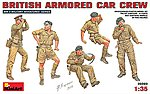 British Armored Car Crew (5) -- Plastic Model Military Figure -- 1/35 Scale -- #35069