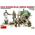 Field Kitchen KP42 Winter Scenery -- Plastic Model Military Diorama Kit -- 1/35 Scale -- #35098