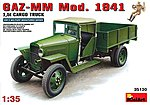 GAZ-MM Mod 1941 WWII Cargo Truck w/2 Figures -- Plastic Model Military Truck Kit -- 1/35 -- #35130