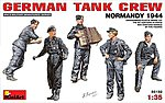 German Tank Crew Normandy 1944 -- Plastic Model Military Figure -- 1/35 Scale -- #35132