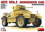 AEC MK 1 Armoured Car -- Plastic Model Armored Car Kit -- 1/35 Scale -- #35152