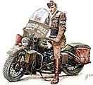 1/35 US Military Policeman w/Motorcycle