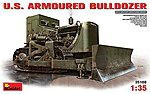 US Armored Bulldozer (New Tool) -- Plastic Model Military Vehicle Kit -- 1/35 Scale -- #35188