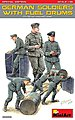 WWII German Soldiers -- Plastic Model Military Figure Kit -- 1/35 Scale -- #35256