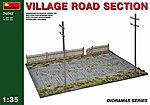 Village Road Section -- Plastic Model Diorama -- 1/35 Scale -- #36042
