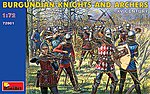Burgundian Knights and Archers XV -- Plastic Model Military Figure -- 1/72 Scale -- #72001