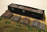 Weathered Railroad Tie Stacks (4) -- HO Scale Model Train Freight Car Load -- #2108