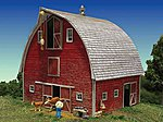 Bob's Barn Kit -- HO Scale Model Railroad Building -- #2211