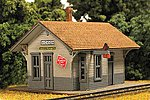 Hickson Depot Kit -- N Scale Model Railroad Building -- #9210