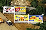 Double Billboard 2 Pack Kit -- N Scale Model Railroad Billboard -- #9217