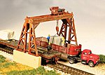 Overhead Gantry Crane Kit -- N Scale Model Railroad Building -- #9301