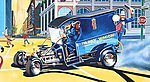 Paddy Wagon w/Figures -- Plastic Model Car Kit -- 1/24 Scale -- #854194