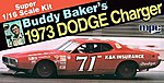 Buddy Baker 1973 Dodge Charger Stock Car -- Plastic Model Car Kit -- 1/16 Scale -- #811