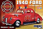 1940 Ford Fire Chief Super -- Snap Tite Plastic Model Vehicle Kit -- 1/25 Scale -- #815