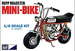 Rupp Mini Bike (Red) -- Plastic Model Motorcycle Kit -- 1/8 Scale -- #849