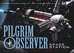 NASA Pilgrim Observer Space Station -- Plastic Model Space Craft -- 1/100 Scale -- #713